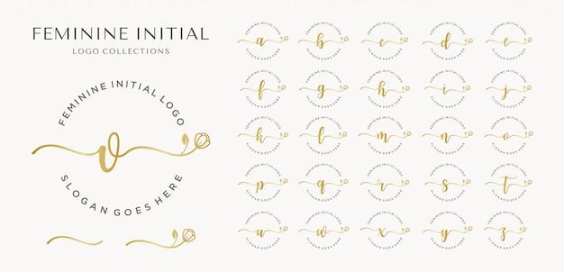 Coleção inicial feminina de logotipos