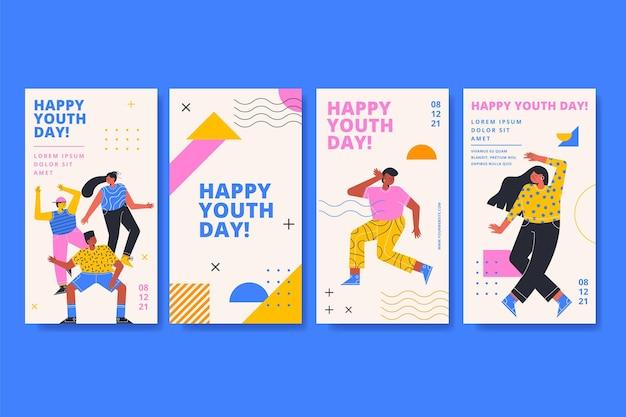 Coleção internacional de histórias do dia da juventude
