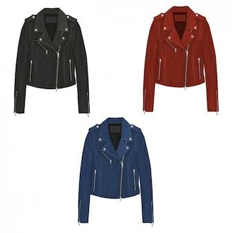 Coleção jaquetas de couro
