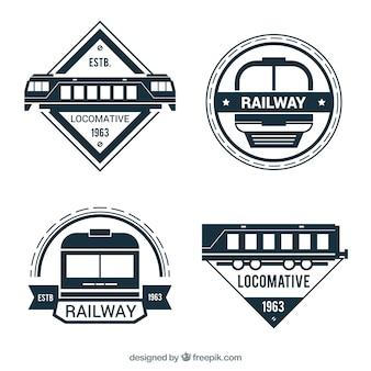 Coleção logo e localização ferroviária