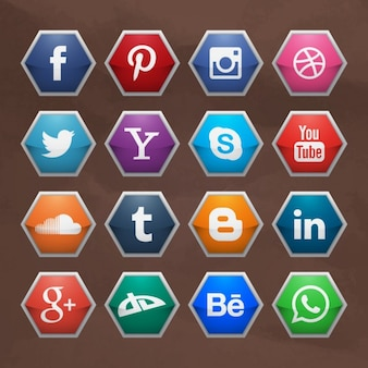 Coleção logo mídia social