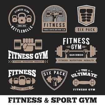 Coleção logos de fitness