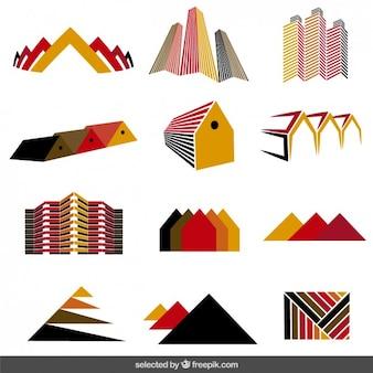 Coleção logos imobiliário