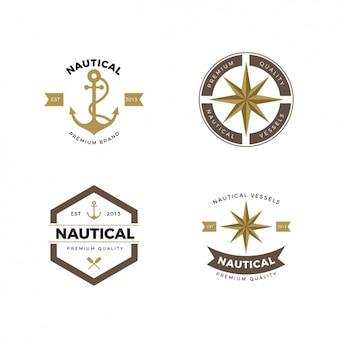 Coleção logos náuticas