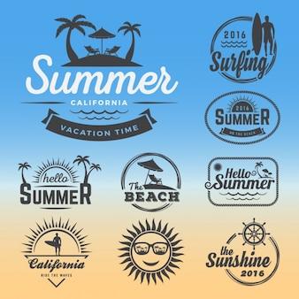 Coleção logos verão