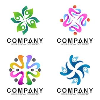 Coleção logotipo abstrato