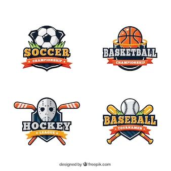 Coleção logotipo do esporte