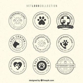 Coleção logotipo vet