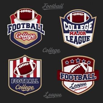 Coleção logotipos do futebol