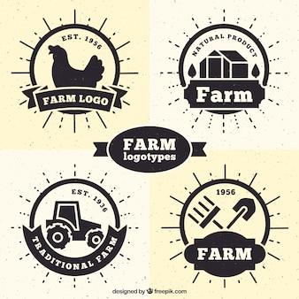 Coleção logotipos fazenda