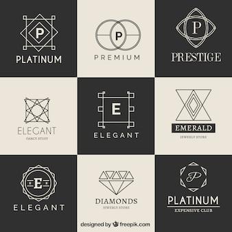 Coleção logotype luxo