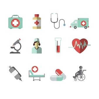 Coleção médica ícone