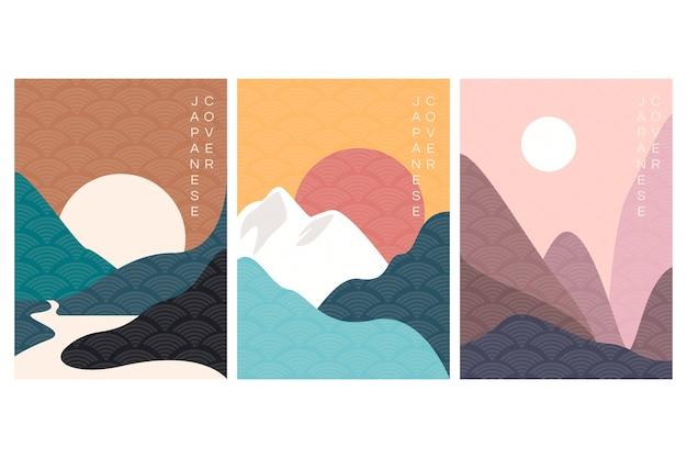 Coleção mínima de capa japonesa