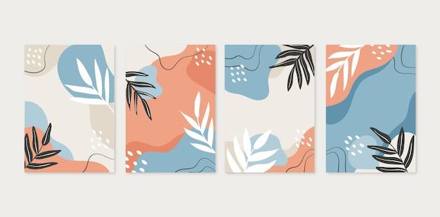 Coleção mínima de capas desenhadas à mão desenhada