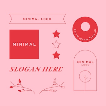 Coleção mínima de elementos do logotipo em duas cores