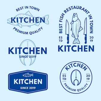 Coleção mínima de logotipo em duas cores