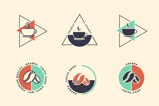 Coleção mínima de logotipo em estilo retro