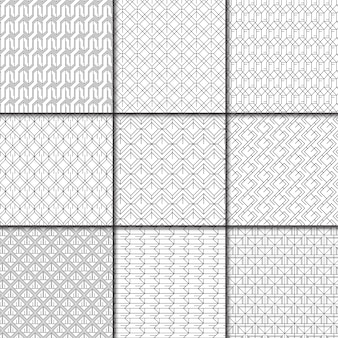 Coleção mínima padrão geométrico