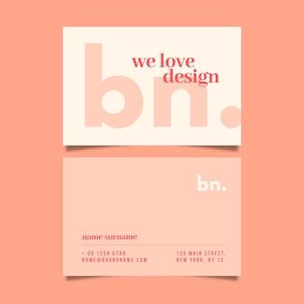 Coleção minimalista de cartões de visita