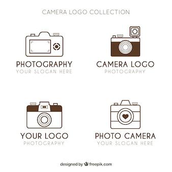 Coleção minimalista de logo da câmera