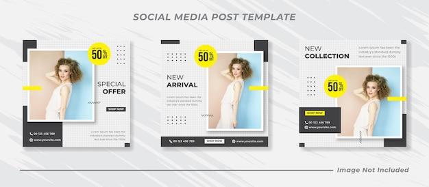 Coleção minimalista de modelos de postagem de mídia social