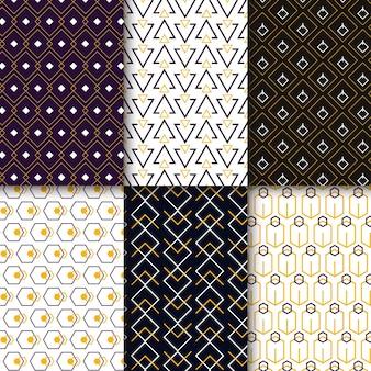 Coleção minimalista padrão geométrico
