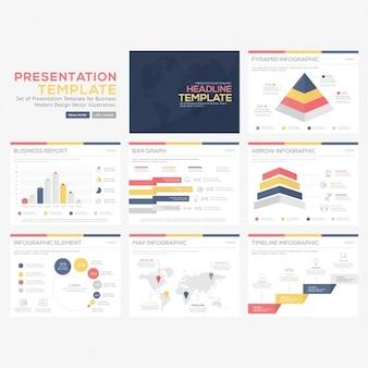Coleção modelos infográfico