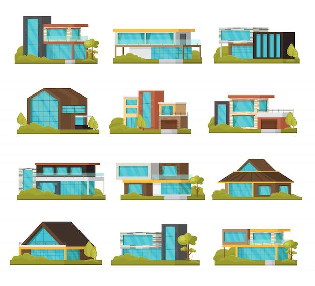 Coleção modern suburban houses