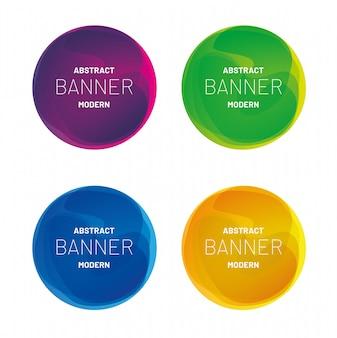 Coleção moderna bandeira abstrata