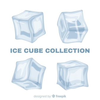 Coleção moderna de cubo de gelo