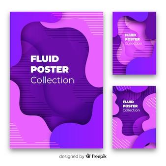 Coleção moderna de fundo fluido