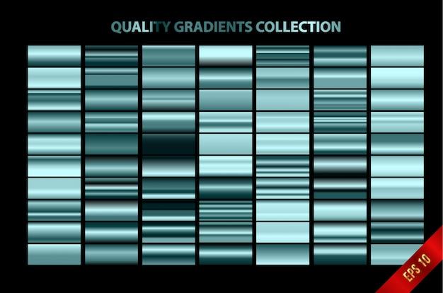 Coleção moderna de gradientes de qualidade