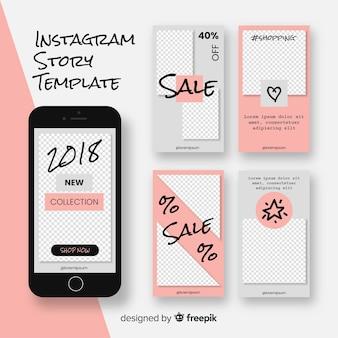 Coleção moderna de histórias do instagram