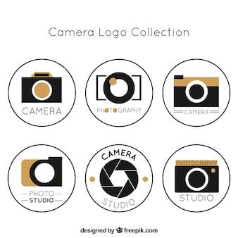 Coleção moderna de logotipo de foto estúdio