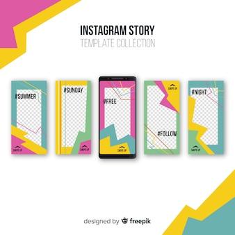 Coleção moderna de modelos de histórias do instagram