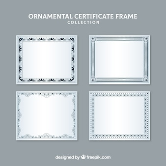 Coleção moderna de quadros de certificado