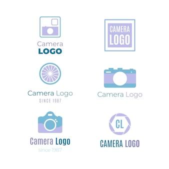Coleção moderna do logotipo da câmera