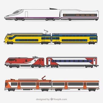 Coleção moderna do trem