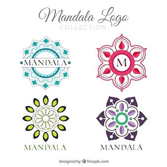 Coleção multicolor do logotipo da mandala