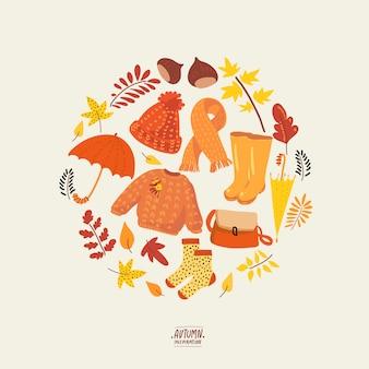 Coleção natural de outono.