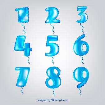 Coleção número azul