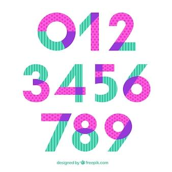 Coleção número moderno