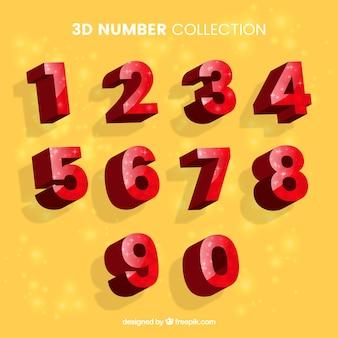 Coleção número vermelho