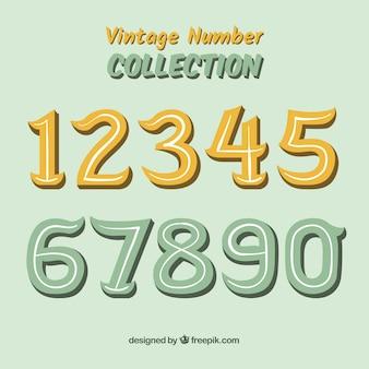 Coleção número vintage