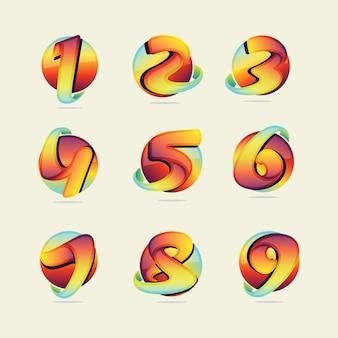 Coleção números coloridos