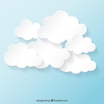Coleção nuvens brancas
