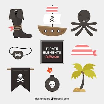Coleção octopus com elementos piratas