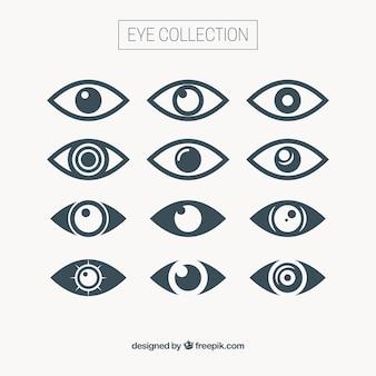 Coleção olho abstrato