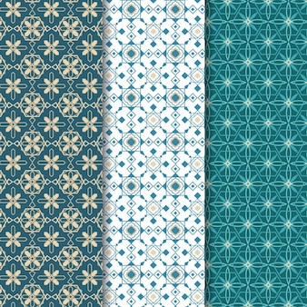Coleção ornamental arabic pattern
