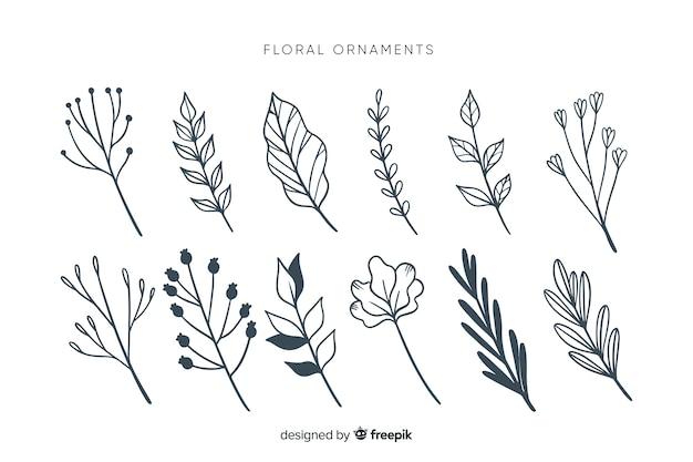 Coleção ornamental monocromática